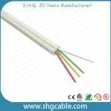 Câble téléphonique plat de faisceaux élevés de Qualtiy 4
