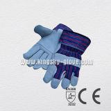 Перчатка кожаный перчатки коровы экономии Split общецелевая с залатанной ладонью (3053)