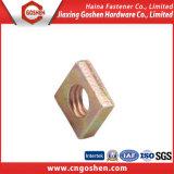 Noix DIN562 mince principale carrée galvanisée