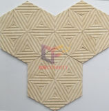Beige motivo floreale come la pietra Hexagon Travertino Mosaic (CFS1072)