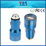 Universal 선전용 5V 2.1A Stainless Steel Mini Dual USB Car Charger