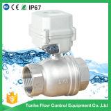 A150 2 caminho SS304 Válvula de Esfera de água motorizado com substituição manual