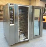 Forno elétrico da conveção do forno da circulação de ar quente das bandejas do aço 10 de Staniless