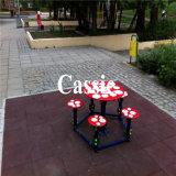 El azulejo de suelo de goma, recicla la pavimentadora de goma colorida