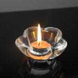 Suporte de vela de cristal transparente de alta qualidade (KS140137)