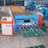 Rodillo cubierto color automático del panel del metal R que forma haciendo la máquina