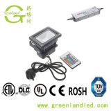 Ce RoHS Bridgelux alta qualità del chip da 45 mil 3 indicatore luminoso di inondazione esterno di volt LED della garanzia 24 di anno