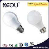Lampe de base en aluminium de la lampe 3With5With7With10With12With15W E27/B22/E14 d'ampoule de DEL