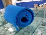 Folha aberta da borracha de espuma do silicone da pilha do azul, folha da borracha de esponja do silicone