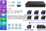 Receptor satélite Android da tevê de Ipremium da caixa de DVB-S2/T2/C e de IPTV Ott