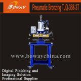 Tjq-368-3t Máquina de estampación en caliente neumática para el papel de plástico duro de cueros de cementos de PVC de gomas