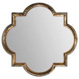 Specchio della parete del blocco per grafici del metallo martellato oro antico sulle vendite calde