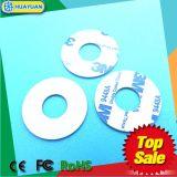 Dia15mm MIFARE標準的な1K白い小型RFID PVCディスク札