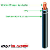 Os fios do cabo Cabo Thw Thhn/PVC jaqueta de nylon de Isolamento do Fio Elétrico
