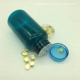 200ml azul claro vaciar botellas de plástico PET para la vitamina, la nutrición y las cápsulas con sellador