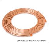Tubulação de cobre revestida do PE do condicionamento de ar da Dobro-Câmara de ar