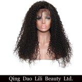 250% 조밀도 흑인 여성을%s 꼬부라진 레이스 정면 사람의 모발 가발 아기 머리에 의하여 표백된 매듭을%s 가진 Remy 브라질 머리
