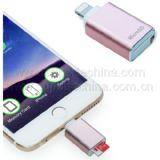 Mfi iPhone、iPad、iPod (S1A-8301D)のためのマイクロSDのカード読取り装置