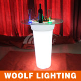 POT di fiore chiaro di plastica del LED per Infoor ed uso esterno