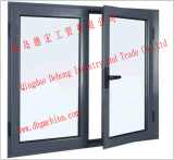 Finestra del PVC di girata e di inclinazione con il vetro basso di E