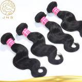 中国の卸し売り安く黒く自然な女性ボディ波のインドのバージンの人間の毛髪のよこ糸