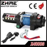 treuil électrique de corde synthétique de traction de 12V 4000lbs pour ATV/UTV