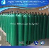 99,999% cheio de gás argônio no cilindro