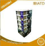 Knall Positions-Paplippenstift, der Ausstellungsstand, Papppapierbildschirmanzeige-Zahnstange, gewellte Speicher-Ladeplatten-Bildschirmanzeige bekanntmacht