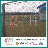 空港の保安のビニールの上塗を施してあるチェーン・リンクの塀の刑務所の塀