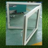 Außen-UPVC Flügelfenster-Fenster des Schwingen-mit einzelnem Glas