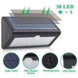 Resistente al agua 38LED de Energía Solar Sensor de movimiento PIR Seguridad Jardín luz de pared