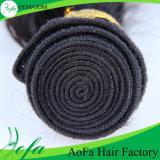 Producto de pelo rizado malasio del resorte de Remy de la peluca del pelo humano