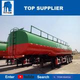 Réservoir de remorque de pétrole brut de titan 36000 litres d'essence de camion-citerne de remorque semi à vendre Philippines