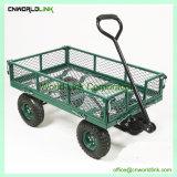 熱い販売法のFoldable頑丈な庭のトロリーカートの金属ワゴン