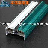 Revestimento a pó perfil de alumínio de extrusão de alumínio para vidro corrediço da porta da roupa