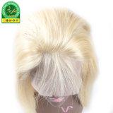 Blondes Perücke-natürliches Haarstrichbestes Jungfrau-Haar-volle Spitze-Perücke