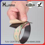 Un fuerte adhesivo de finas tiras magnéticas suave Flexible cinta magnética.