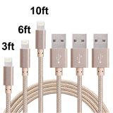 ナイロン編みこみの8つのPin電光ケーブルUSBはiPhoneのための充電器のコードをケーブルで通信する