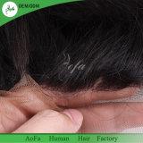 La Chine haut de la qualité de fournisseur aucun enchevêtrement brésilien pour cheveux frisés lâche frontal