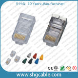 1U 3U 5U 15u 30u plaqué or Cat 8P8C5 connecteur RJ45 CAT6