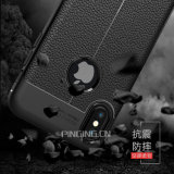 Lychee 가죽 곡물 더하기 iPhone x 8/7를 위한 유연한 TPU 실리콘 전화 상자
