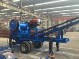 De mobiele Installatie van de Maalmachine van de Kaak voor Mijnbouw met Vultrechter