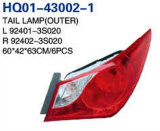 Auto Partes la luz trasera para Sonata 2011. OEM: 92401-3020/92402 s-3s020/92403-3s020/92404-3s020