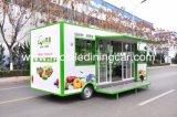 أربعة عجلات طعام عربة لأنّ يبيع ثمرات مع تصميم جيّدة