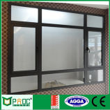 Polvo de aluminio recubierto de ventana de bisagras con vidrio de seguridad Mover hacia afuera