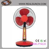Ventilador de tabela solar da C.C. dos ventiladores 12V do projeto popular com luz do diodo emissor de luz