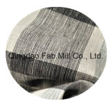 100%lino hilado teñido de tejido (QF13-0758)