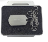 Dog Tag de alta calidad USB Flash Drive con impresión personalizada