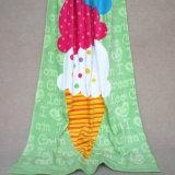 Van het Katoenen van 100% Handdoek van het Strand Ijs van Kinderen de Riem Afgedrukte