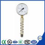 セリウムが付いている耐熱性圧力計
